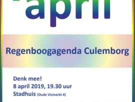 Regenboog op 8 april!